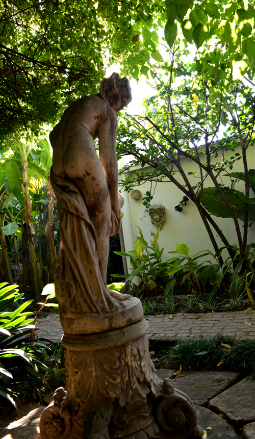 A lovely statue in the courtyard