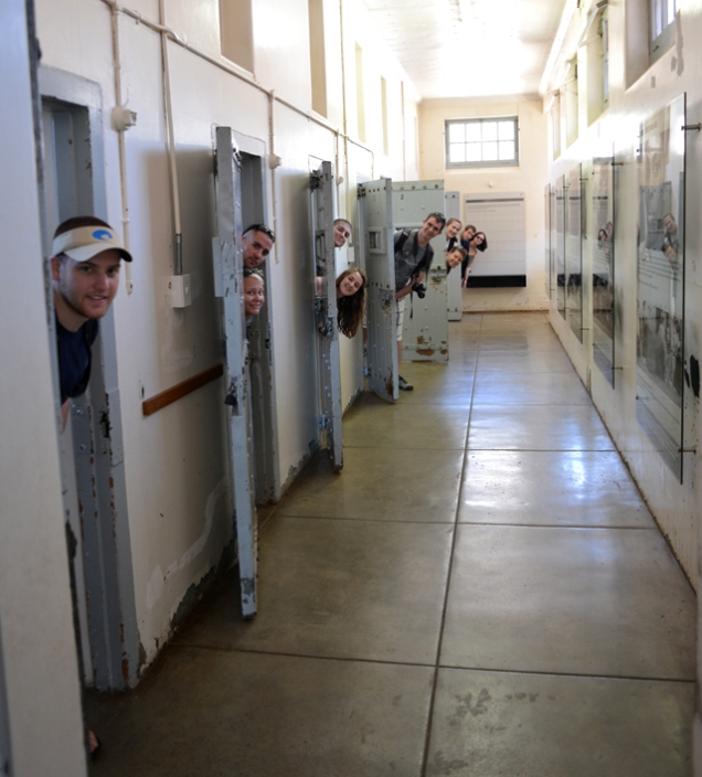The students in the solitary confinement cells.
