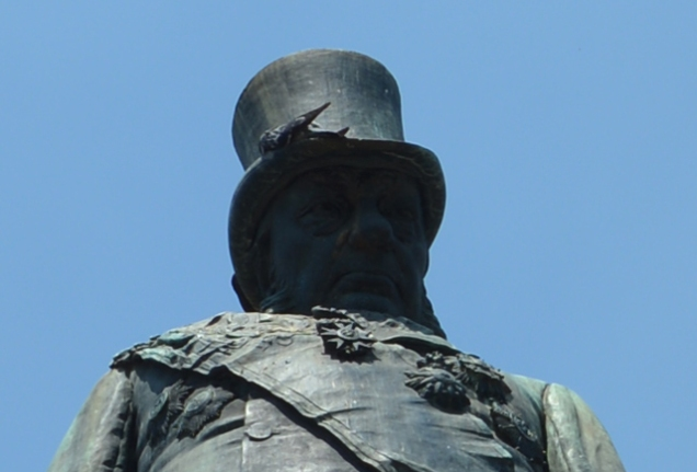 Paul Kruger's bird bath hat.