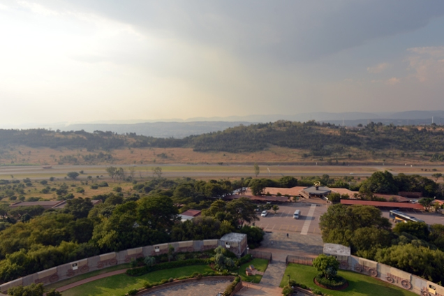 View from the top of the Voortrekker Monument.
